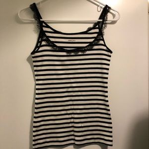 ♥️3 for 10 Lace trim striped tank top